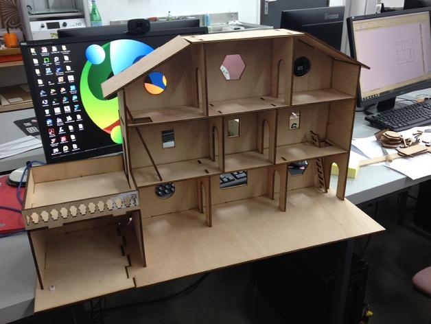 maison adapt e aux playmobil fablab ch teau thierry. Black Bedroom Furniture Sets. Home Design Ideas